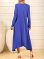 Purplish Blue Dresses Shift Daily Casual Dresses
