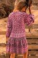 Red Vintage Holiday Tribal Mini Dresses
