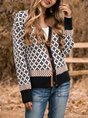 V Neck  Long Sleeve Outerwear
