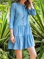 Holiday 3/4 Sleeve Paneled Dress