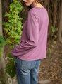 Long Sleeve V Neck Paneled Top