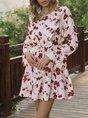 A-Line Casual Long Sleeve Dress