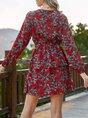 Long Sleeve A-Line Casual Dress