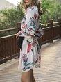 A-Line Daily Floral Mini Dress